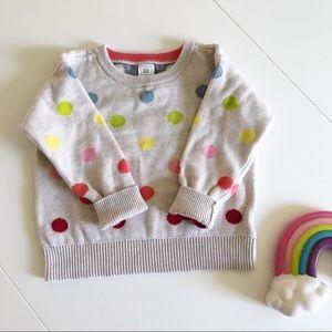 Rainbow polka dot sweater 🌈